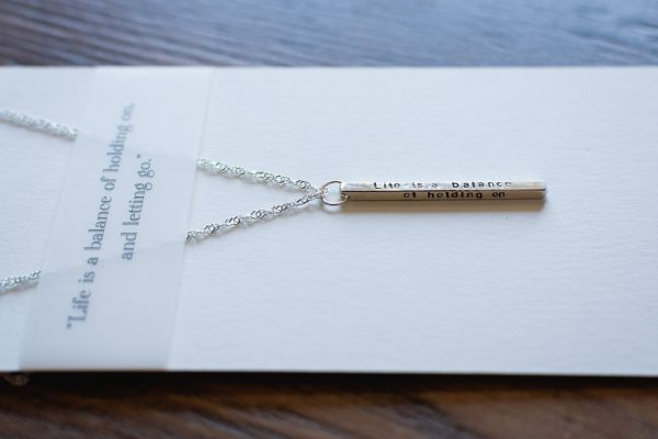 Quote Necklace by Elements Gallery