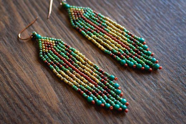 JK Beadwroks Fringe Earrings