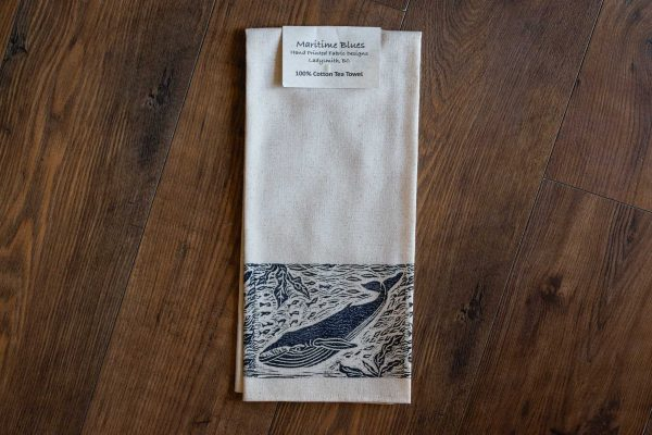Handprinted Tea Towel by Maritime Blues