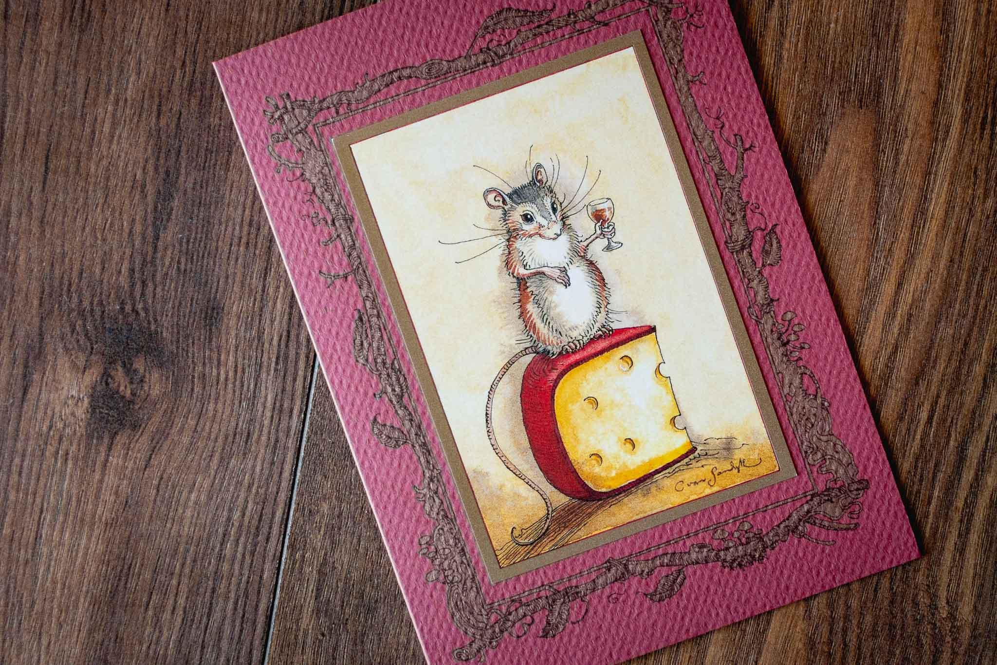 Large Greeting Card by Charles van Sandwyk