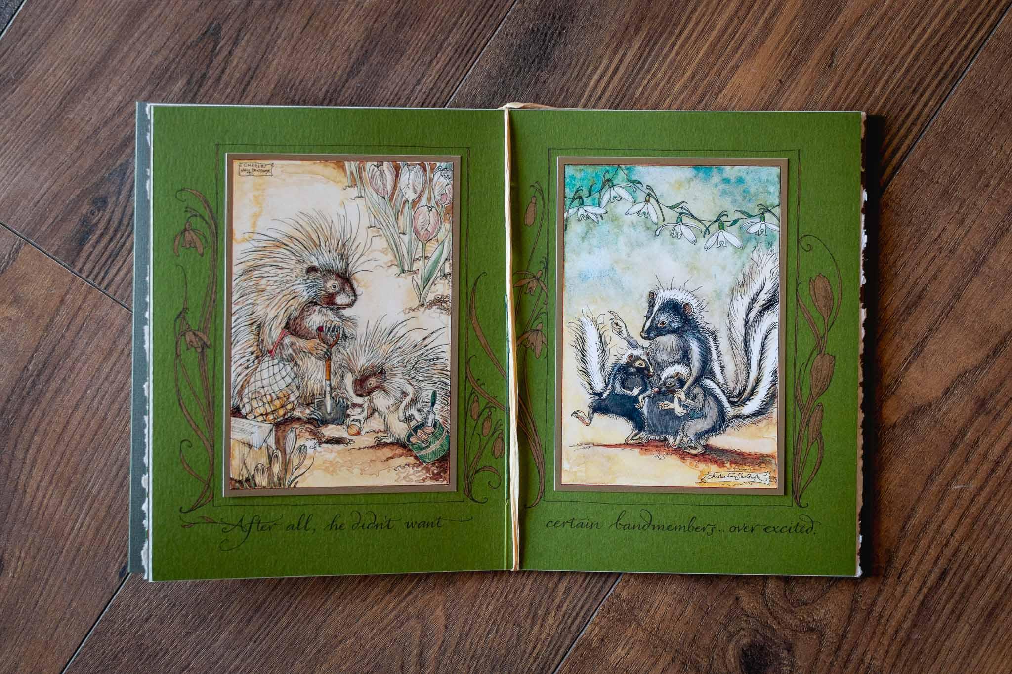 Mr. Rabbits Symphony Of Nature Fine Art Book by Charles Van Sandwyk