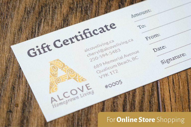 Alcove Gift Certificate