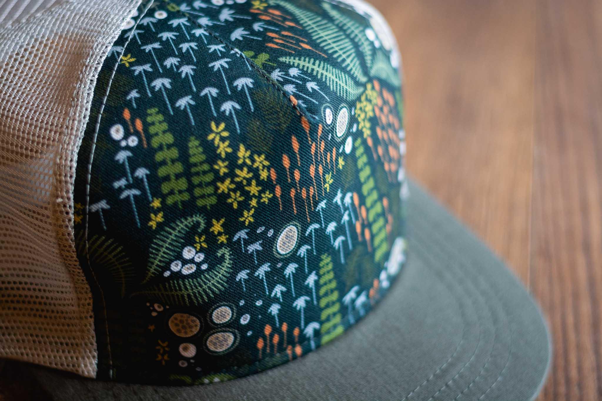 Pattern Trucker Hat By Bough & Antler