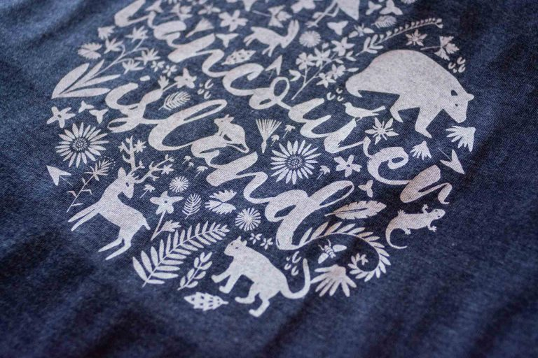 Flora & Fauna Womens Tee Shirt by Bough and Antler