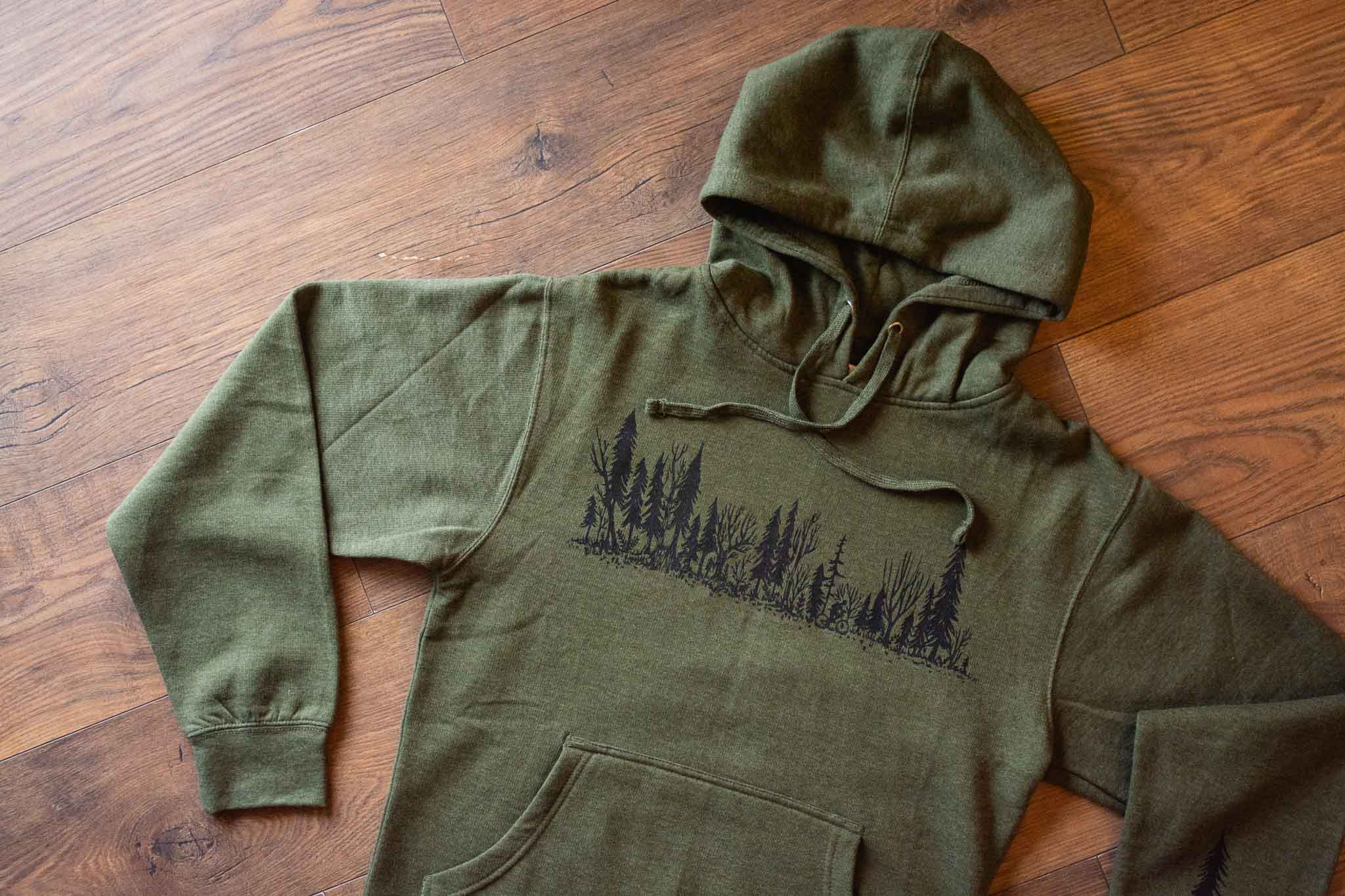 Forest Ride Unisex Hoodie By Bough & Antler