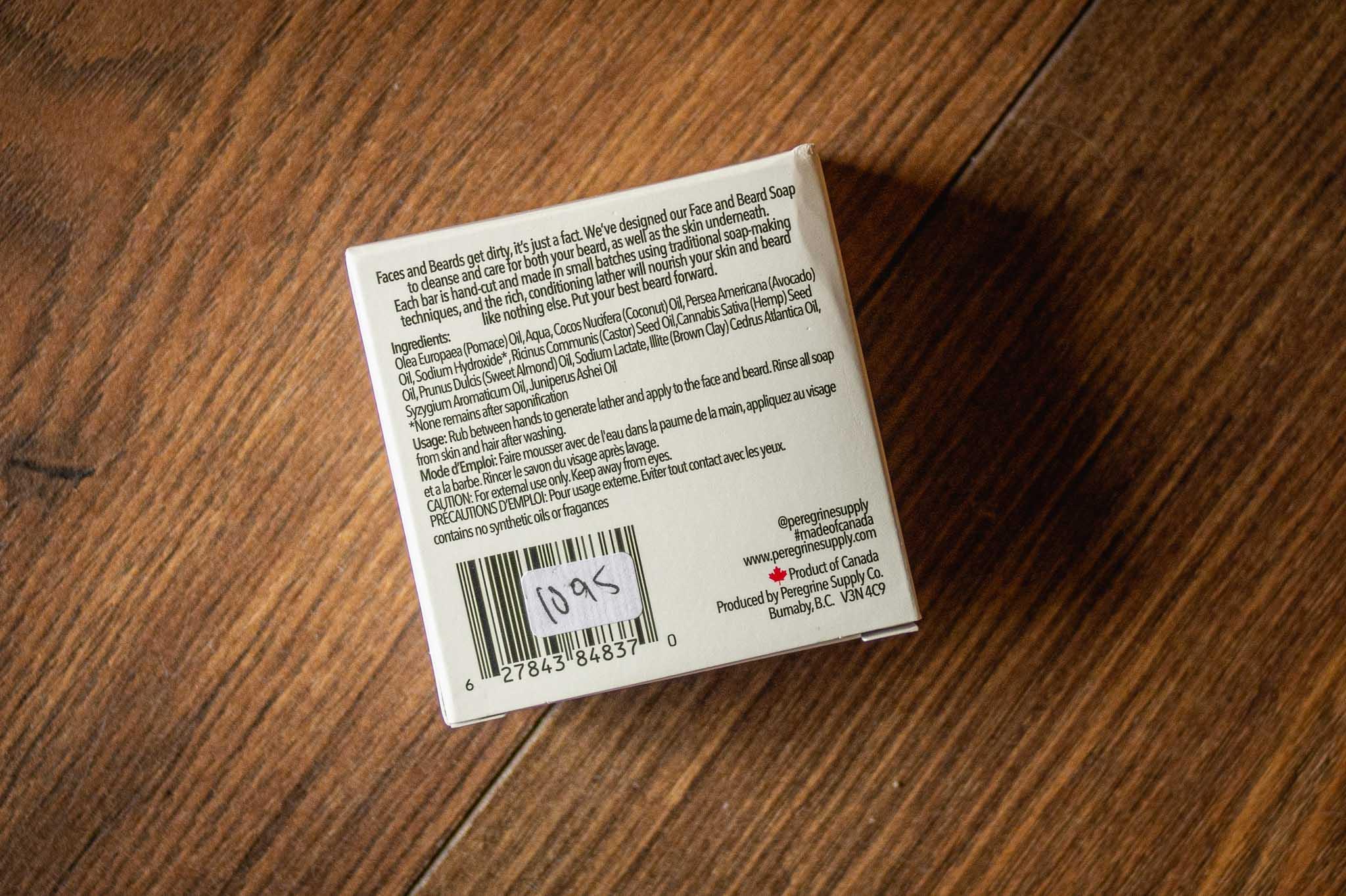 Face & Beard Soap by Peregrine Supply Co
