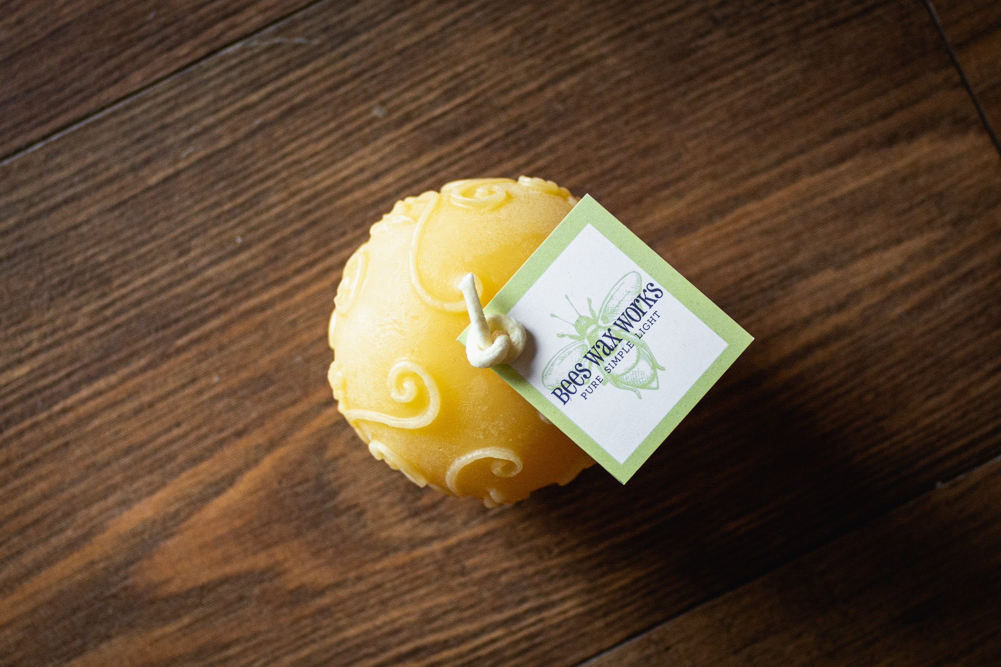 Rustic Fern Globe Candle By Bees Wax Works