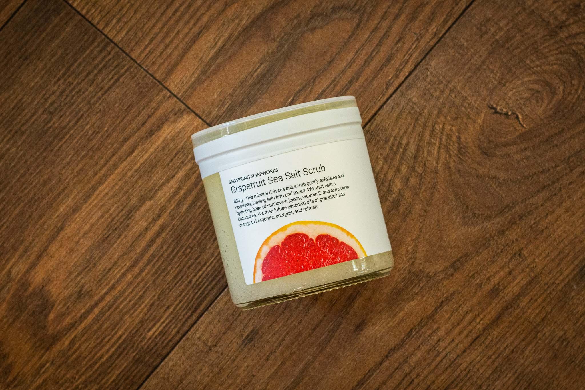 Grapefruit Sea Salt Scrub by Saltspring Soapworks