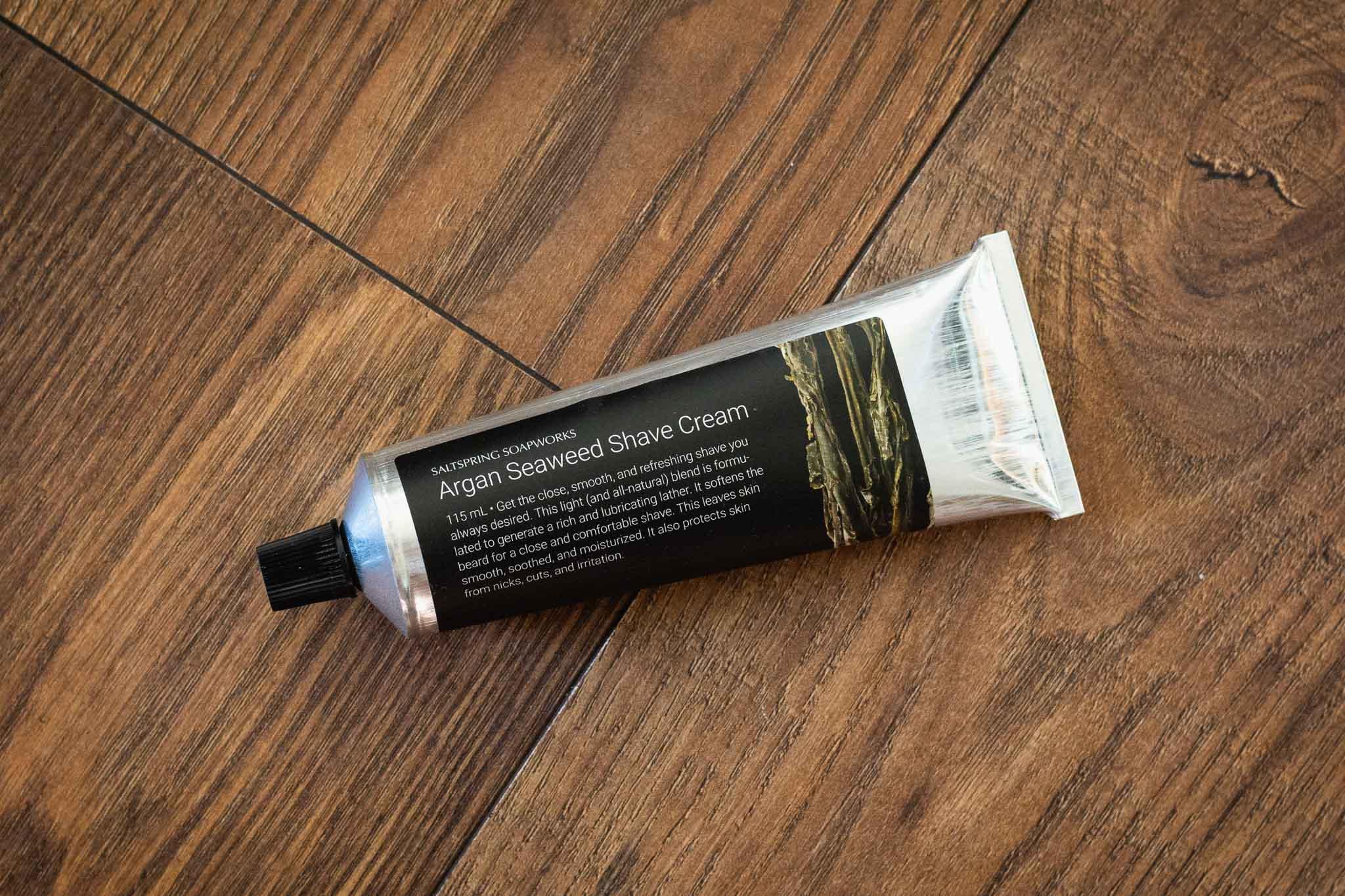 Argan Seaweed Shave Cream by Saltspring Soapworks