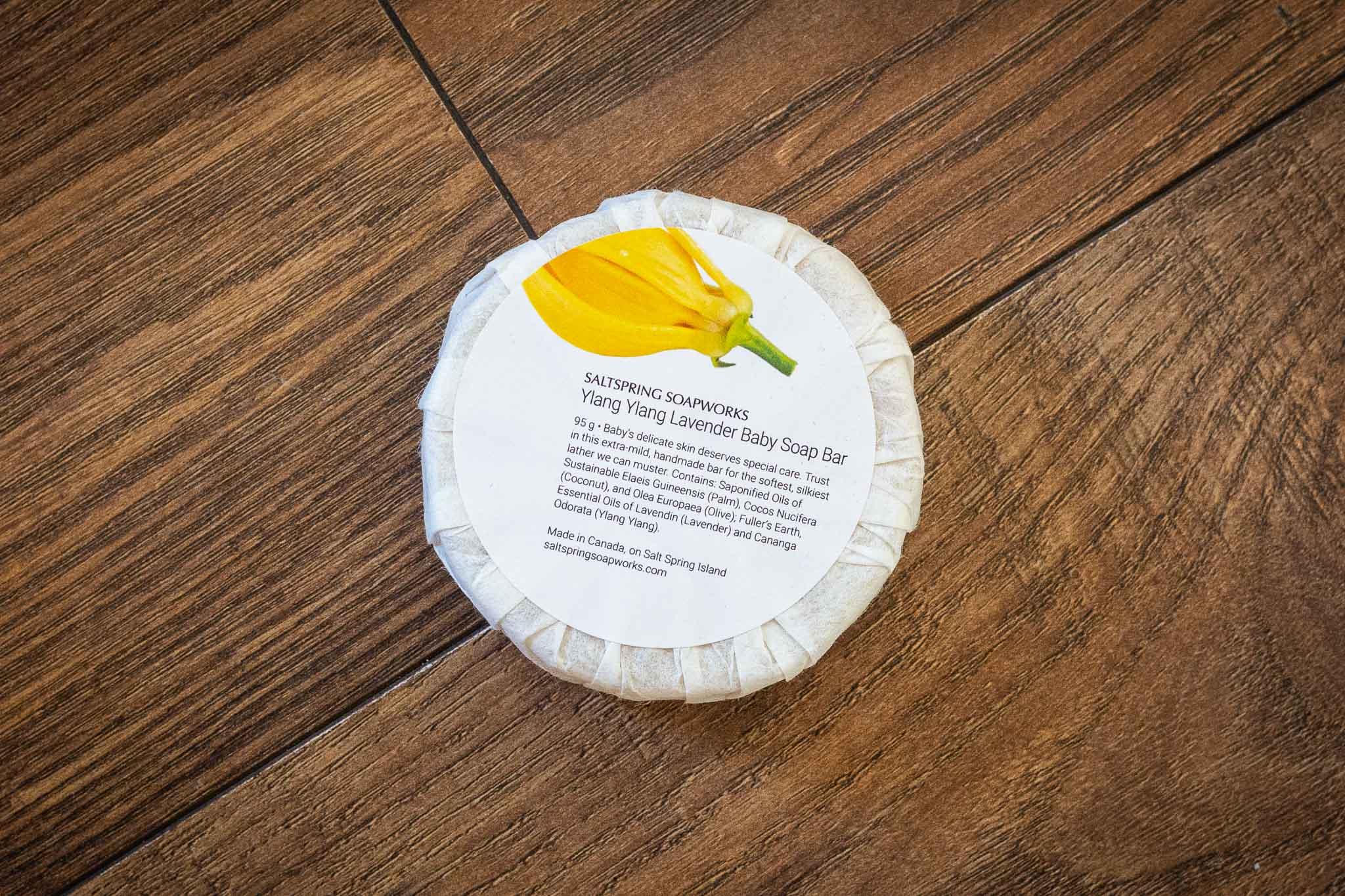 Ylang Ylang Lavender Baby Soap Bar by Saltspring Soapworks