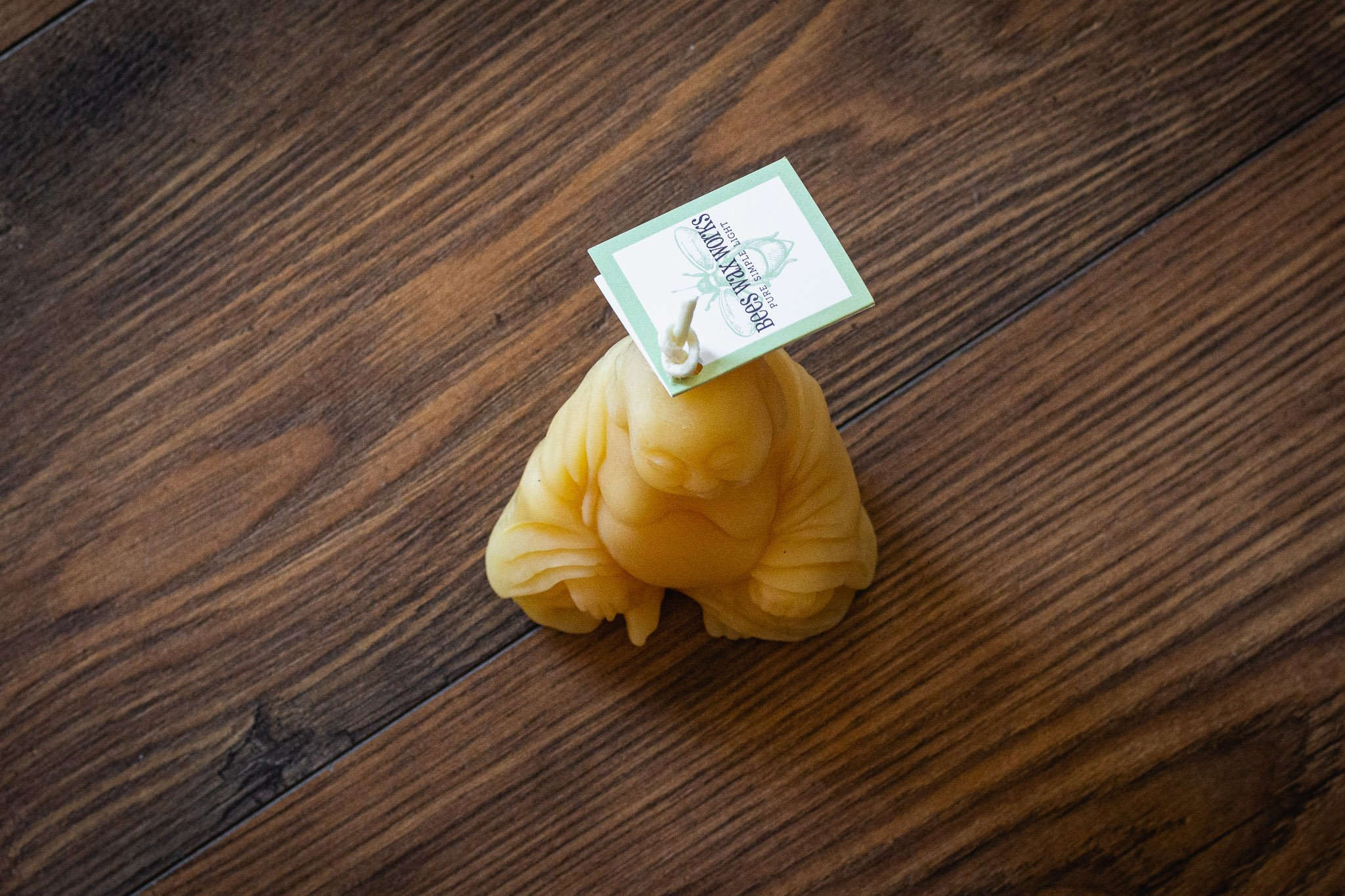 Laughing Buddha Candle By Bees Wax Works