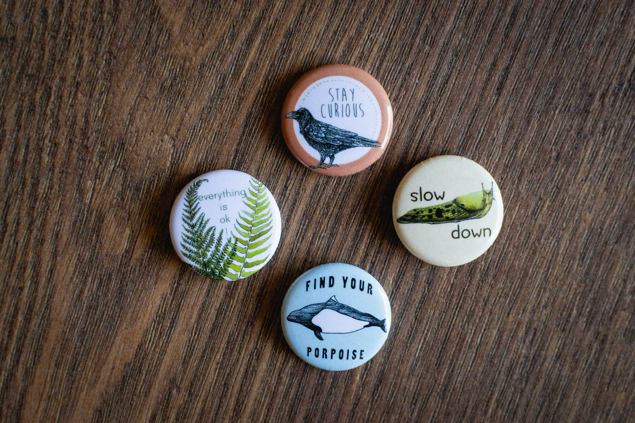 Small Button Pins By Hello Yellow Canary